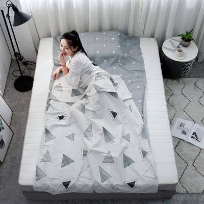 2020新款128*68纯棉隔脏旅行睡袋 几何玩味200*215cm