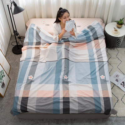 2019新款128*68纯棉隔脏旅行睡袋 时尚花园200*215cm
