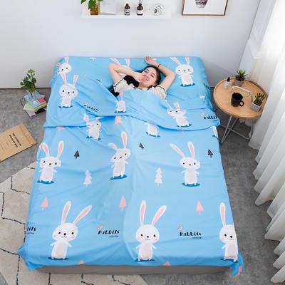 2020新款印花水洗棉旅行睡袋 兔宝贝80*215cm