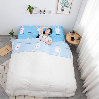 2019新款印花水洗棉旅行睡袋 兔宝贝80*215cm