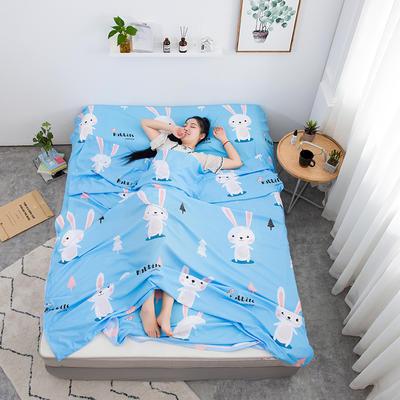 2020新款印花水洗棉旅行睡袋 兔宝贝120*215cm