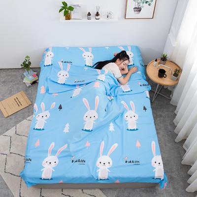 2020新款印花水洗棉旅行睡袋 兔宝贝160*215cm