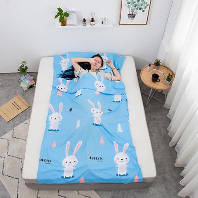 2020新款印花水洗棉旅行睡袋 兔宝贝180*215cm