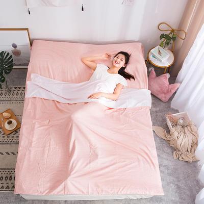 2020新款斜纹水洗棉旅行睡袋 经典永恒-桔120*215cm