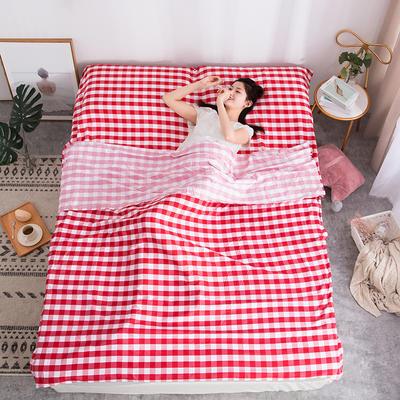 2020新款斜纹水洗棉旅行睡袋 时光之梦-红120*215cm