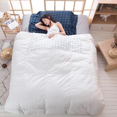2019新款斜纹水洗棉旅行睡袋 自然风-蓝80*215cm