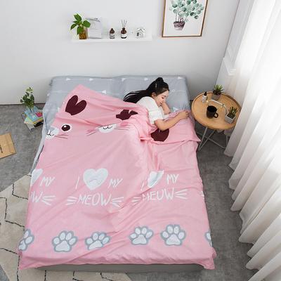 2019新款芦荟棉隔脏旅行睡袋 可爱小兔80*215cm