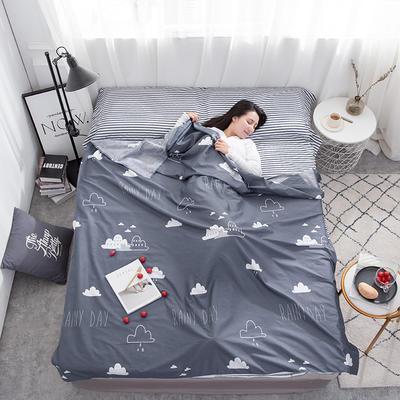 2020新款128*68纯棉隔脏旅行睡袋 漫步云端200*215cm