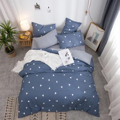 2019新款全棉12868四件套 床单款1.2m(4英尺)床三件套 爱巢