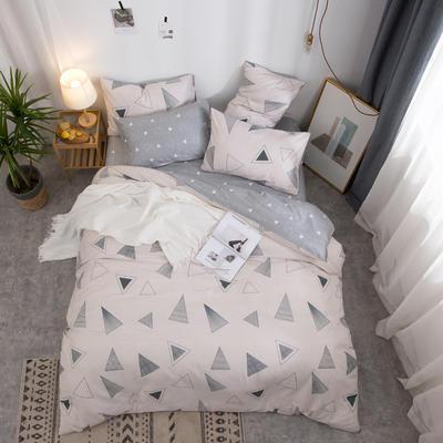 2019新款全棉12868四件套 床单款1.2m(4英尺)床三件套 几何玩味