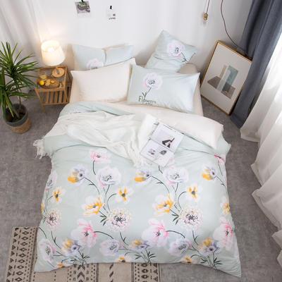 2019新款全棉12868四件套 床单款1.2m(4英尺)床三件套 轻舞漫妙