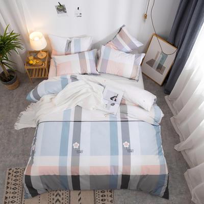 2019新款全棉12868四件套 床单款四件套1.8m(6英尺)床 时尚花园