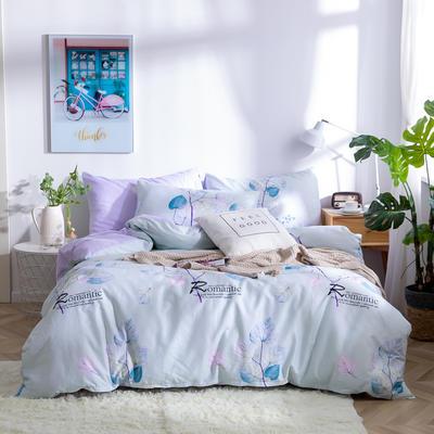 2019新款全棉12868四件套 床单款四件套1.8m(6英尺)床 温雅临风