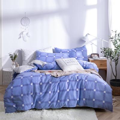 2019新款全棉12868四件套 床单款四件套1.8m(6英尺)床 休闲时光