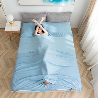 2020新款莫代尔隔脏睡袋 雾霾蓝0.8*2.15
