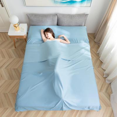 2020新款莫代尔隔脏睡袋 雾霾蓝1.2*2.15