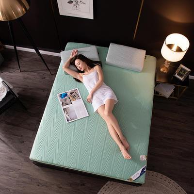 2020新款乳胶床垫 0.9*1.9m/0.9*2m 波浪-水绿10cm