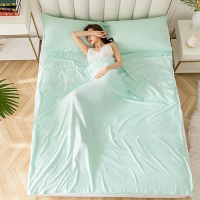 2020新款莫代尔隔脏睡袋 水绿0.8*2.15