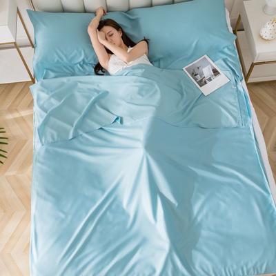 2020新款莫代尔隔脏睡袋 温润蓝0.8*2.15
