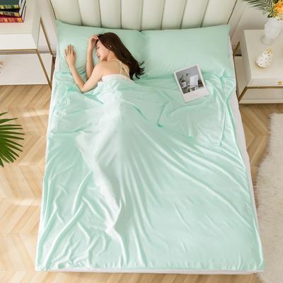 2020新款莫代尔隔脏睡袋 水绿1.2*2.15