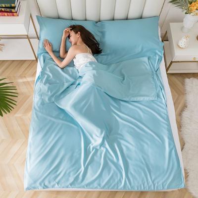 2020新款莫代尔隔脏睡袋 温润蓝1.6*2.15