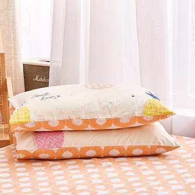 2020新款小清新风全棉12868单品枕套(48*74cm/对) 48*74cm/对 菠萝日记-黄