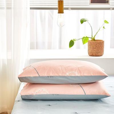 2020新款小清新风全棉12868单品枕套(48*74cm/对) 48*74cm/对 蒲公英