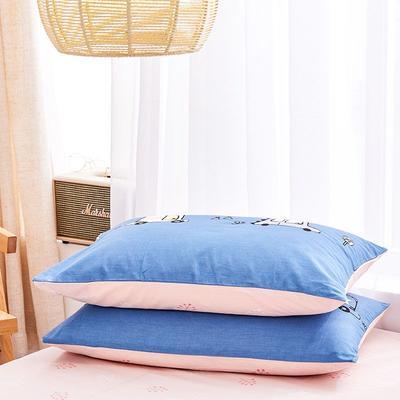2020新款小清新风全棉12868单品枕套(48*74cm/对) 48*74cm/对 汽车总动员-蓝