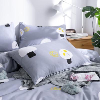 2020新款小清新风全棉12868单品枕套(48*74cm/对) 48*74cm/对 小蘑菇