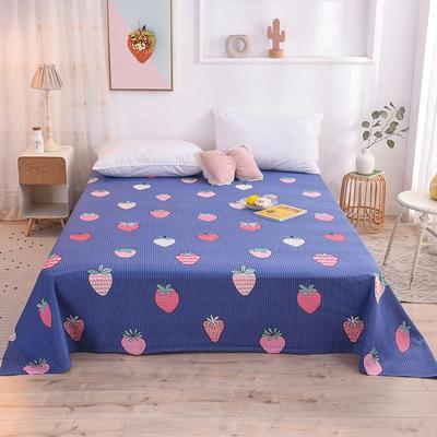 2020新款小清新风全棉12868单品床单 0.9*2.3m 甜心草莓