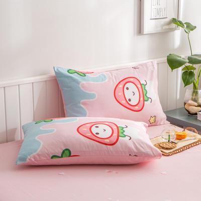 2020新款小清新风全棉12868单品枕套(48*74cm/对) 48*74cm/对 草莓之恋