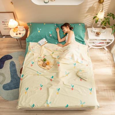 2020新款128*68纯棉隔脏旅行睡袋1 小萝卜-黄80*215cm