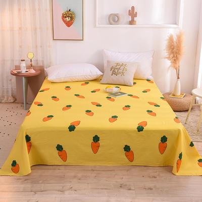 2021新款小清新风全棉12868单品床单 1.2*2.3m 胡萝卜-黄