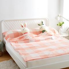 全棉水洗棉隔脏旅行睡袋 桔大格160*210cm