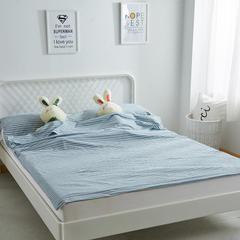 全棉水洗棉隔脏旅行睡袋 蓝白条160*210cm