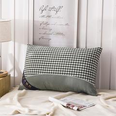 沐希枕业 水洗棉热熔枕头枕芯48*74cm 绿色热熔枕一只