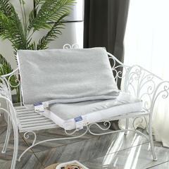 2018新款-立体针织荞麦枕头(48*74cm) 白色