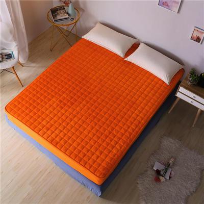 水晶绒夹棉床笠 120cmx200cm 玫红