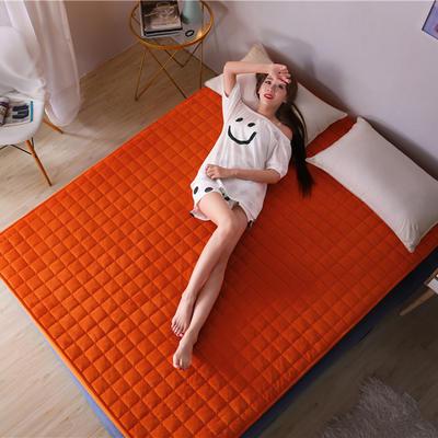 水晶绒夹棉床笠 120cmx200cm 橙色
