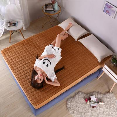 水晶绒夹棉床笠 120cmx200cm 驼色