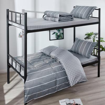 13070  全棉三件套學生三件套宿舍三件套單人床三件套 1.0m(3.3英尺)床 時尚風