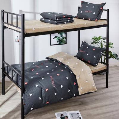 13070  全棉三件套學生三件套宿舍三件套單人床三件套 1.0m(3.3英尺)床 完美角度