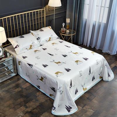2019新款床单款冰丝凉席三件套 床单245X250cm 北欧麋鹿