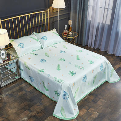 2019新款床单款冰丝凉席三件套 床单245X250cm 楼澜花开