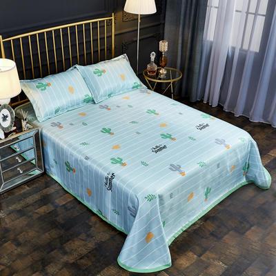 2019新款床单款冰丝凉席三件套 床单245X250cm 沙漠精灵