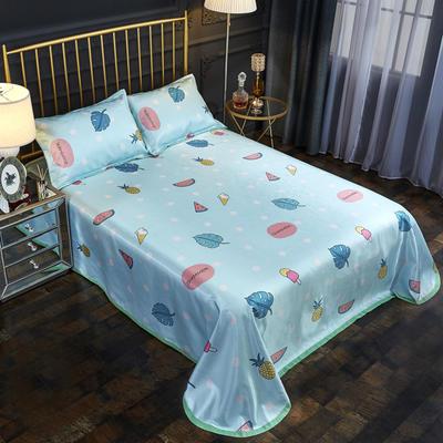 2019新款床单款冰丝凉席三件套 床单245X250cm 甜蜜夏日