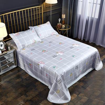 2019新款床单款冰丝凉席三件套 床单245X250cm 小公主
