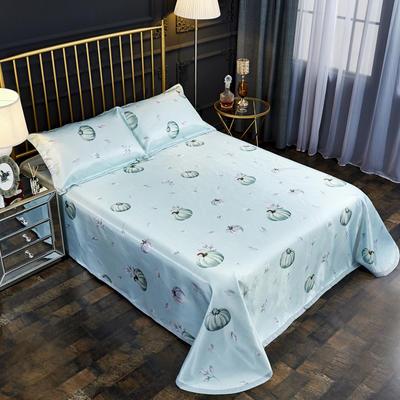 2019新款床单款冰丝凉席三件套 床单245X250cm 小南瓜