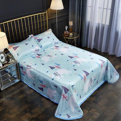 2019新款床单款冰丝凉席三件套 床单245X250cm 咏歌森林
