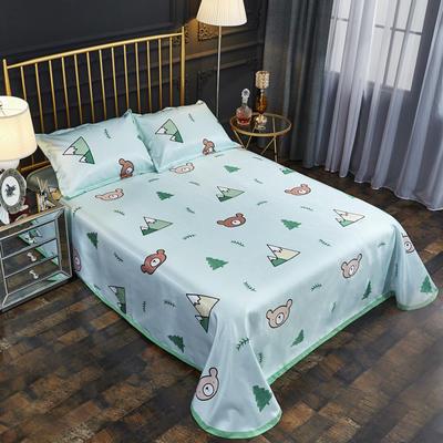 2019新款床单款冰丝凉席三件套 床单245X250cm 原野